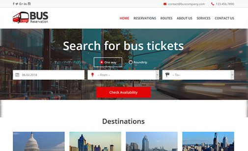 Bus Company Website