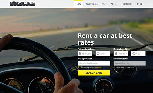 Car Rental Website