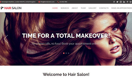 Hair & Beauty Salon Website