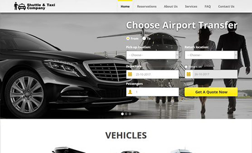 Shuttle & Taxi Website