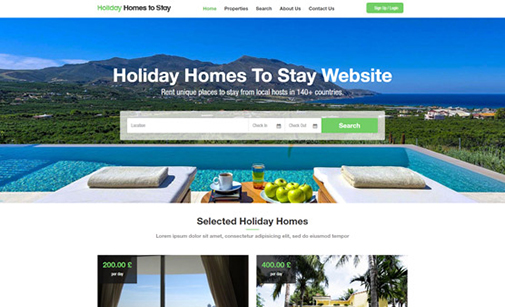Vacation Rentals Website