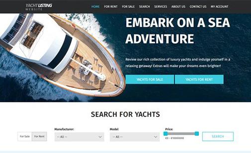 Yacht & Boat Website