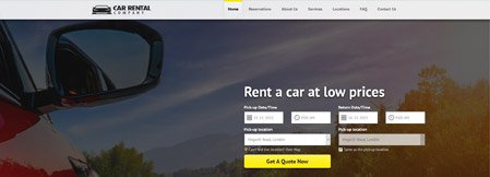 Ready-made Car Rental Websites