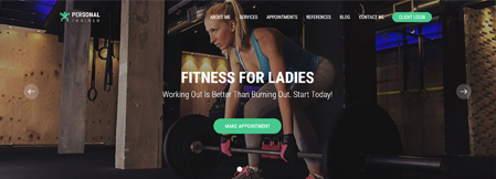 VEVS Personal Trainer Website Builder