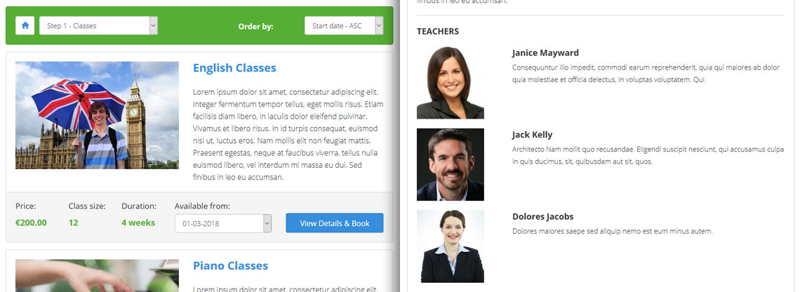 Class Scheduling Script - Teacher Profiles