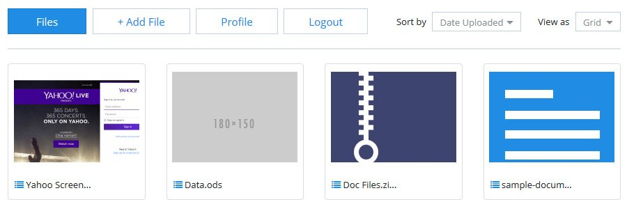 File sharing script front end view