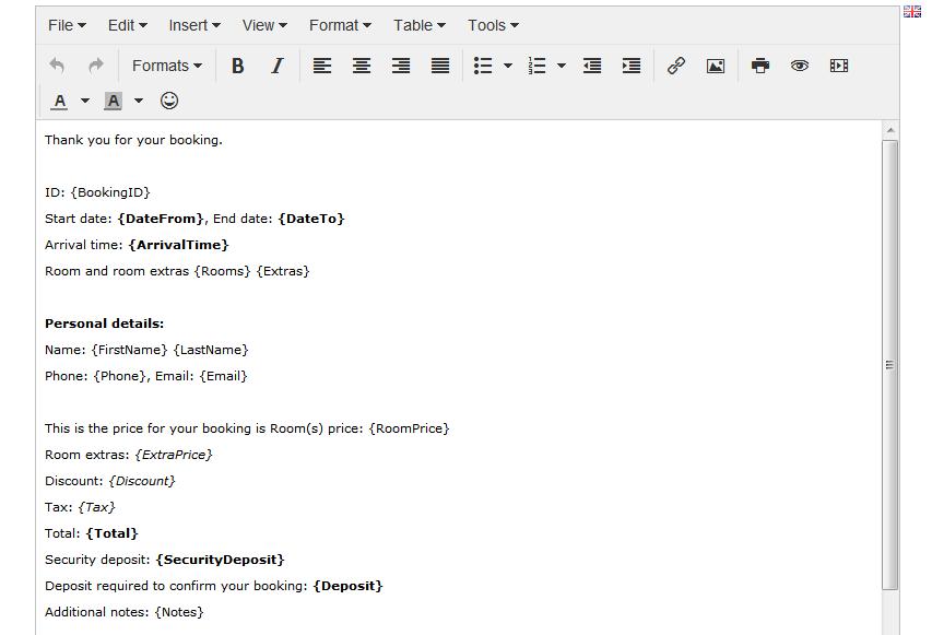 HTML editor shuttle booking script