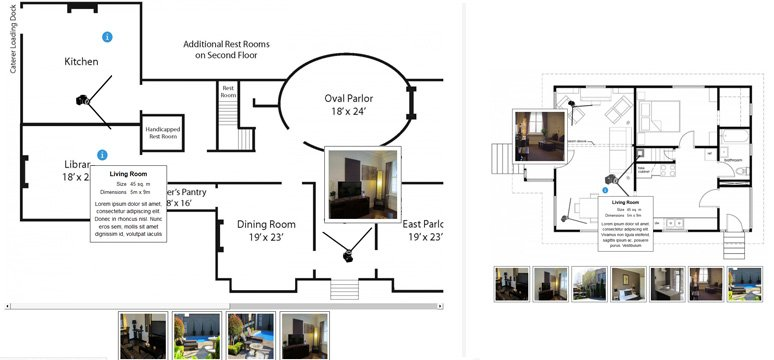 Appealing property presentations interactive floor plan for Interactive home plans