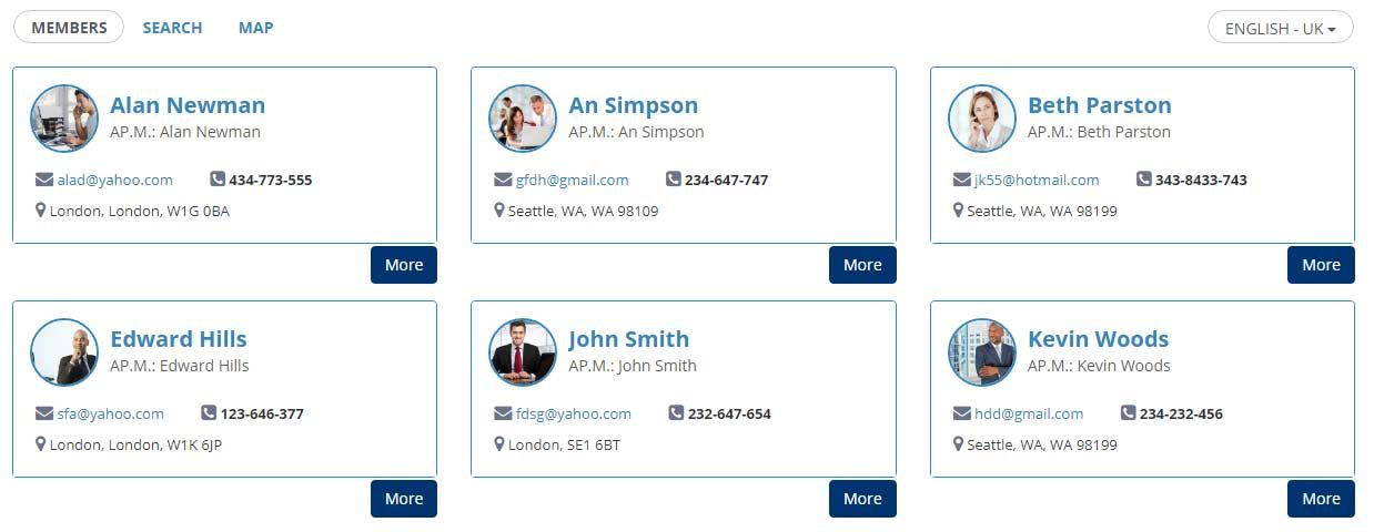 Member Directory Frontend