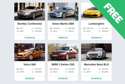 Fancy Flip Card Car Classifieds Script Added to PHPjabbers.