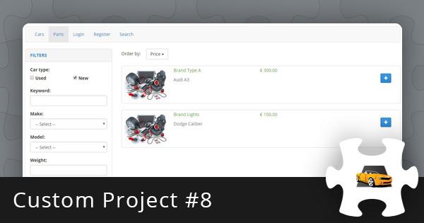 Custom Project #8: Auto Classifieds Script