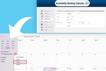 Importing Data From Your Booking Engine to Google Calendar and Yahoo Calendar