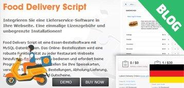 Lieferservice Software: Food Delivery Script Speaks German