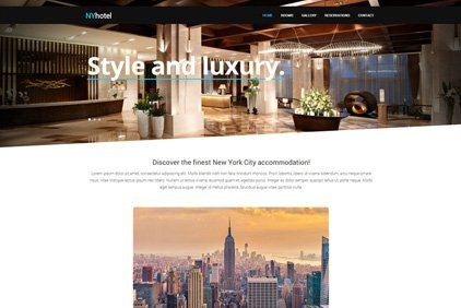 Beautiful, Responsive Hotel Website For A Fraction Of The Price