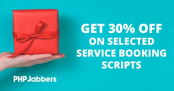 Get our service booking scripts with 30% OFF!
