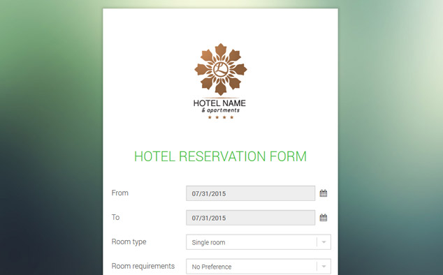 Hotel reservation form free hotel reservation script for The hotel reservation