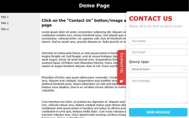 Free Sliding Contact Form | Feedback Button | Phpjabbers