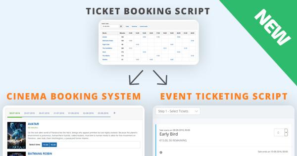 Two new scripts inherit Ticket Booking Script