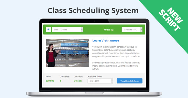 New: Class Scheduling System