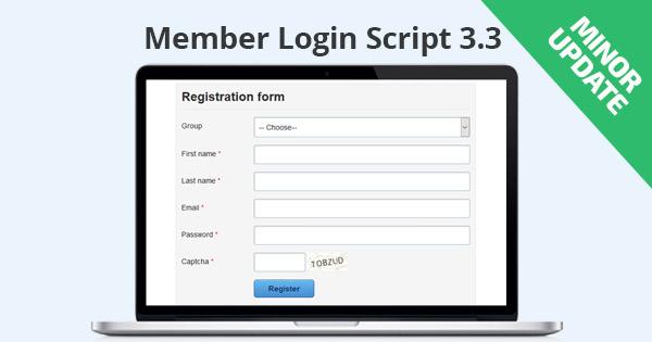 Member Login Script 3.3