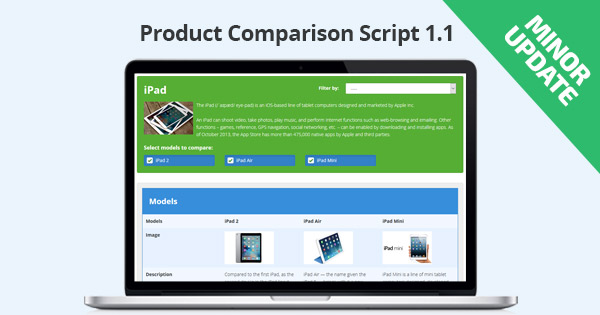 Minor Update: Product Comparison Script 1.1