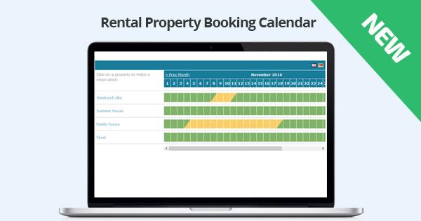 New: Rental Property Booking Calendar