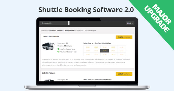 Shuttle Booking Software 2.0