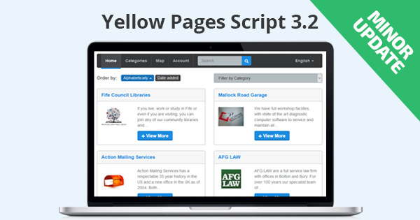Minor Update: Yellow Pages Script 3.2