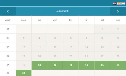Availability Booking Calendar