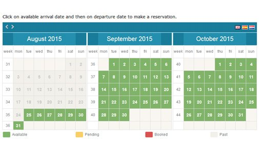 Availability Booking Calendar Calendar Booking System