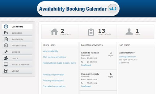 PHP Booking Calendar Script