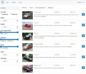 Auto Classifieds Script Demo 1