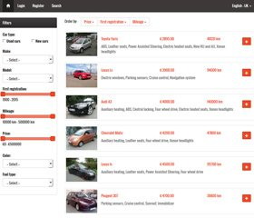 Auto Classifieds Script Demo 2
