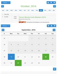 Event Booking Calendar Demo 1
