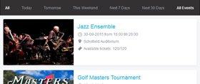 Event Booking Calendar Demo 1
