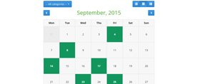PHP Event Calendar Demo 1