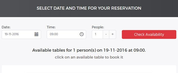 Restaurant Booking System Demo 1