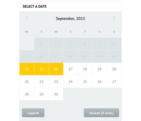 Time Slots Booking Calendar Demo 1