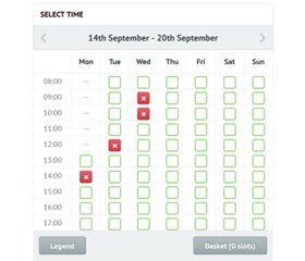 Time Slots Booking Calendar Demo 2