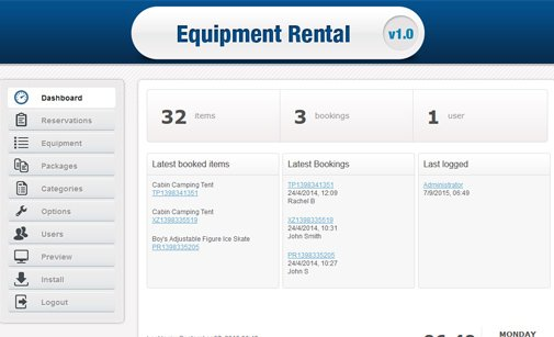 Equipment Booking Software