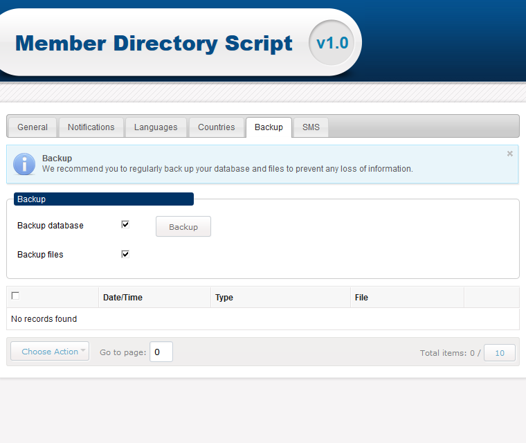 Backup Your Member Listing Database