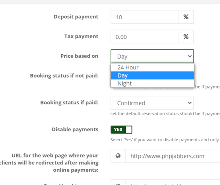 Cark Park Booking Define Price Base