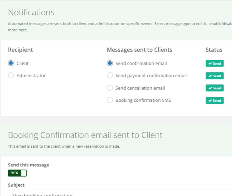 Cark Park Booking Email And Sms Alerts