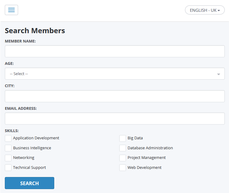 Detailed Search Functionality
