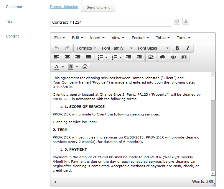 Document Creator Add And Edit Content Through A Word Like Editor