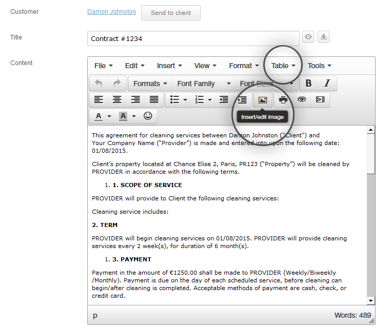 Document Creator Add Text Images Links And Tables
