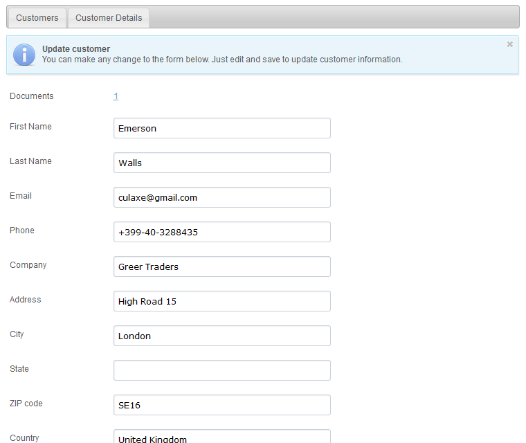 Document Creator Edit And Update Customer Profiles