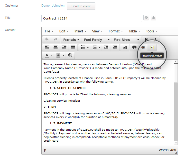 Document Creator Embed Videos And External Links