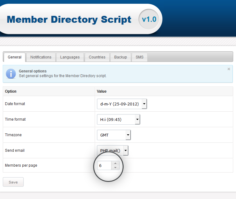 Editable Number Of Member Profiles Per Listing Page