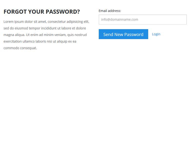 Forgot password functionality